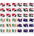 Sealand Principality Sudan Ireland Turks and vector image