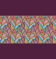 seamless pattern made colorful feathers vector image vector image