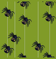 seamless pattern with spiders descending on a vector image vector image