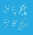set ice cream icons vector image vector image