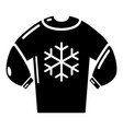 sweater icon simple black style vector image vector image