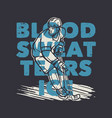 t shirt design blood sweat tears ice with hockey vector image vector image