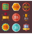 typographic set vintage labels signs badges vector image vector image