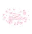 valentines day background with pink sakura falling vector image vector image