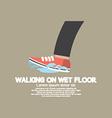 Walking On Wet Floor vector image vector image
