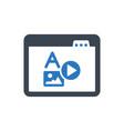 web content icon vector image vector image