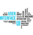word cloud user interface vector image vector image
