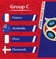 world cup 2018 group c team image vector image vector image
