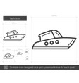 yacht line icon vector image vector image