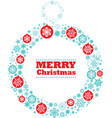 christmas wreath with decorations vector image