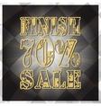Design finish sale banner Big discount vector image