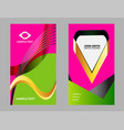 abstract elegant wave business card template vector image vector image