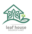 Abstract Logo Real Estate Leaf House Design Icon vector image vector image