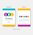 abstract restaurant menu template vector image