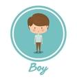 boy smiling design vector image vector image