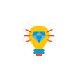 brilliant idea icon flat element vector image