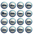 Cars simply icons vector image vector image