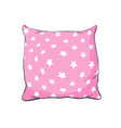 cartoon decorative pillows hand drawn set of vector image