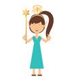 cartoon fairy girl icon vector image vector image
