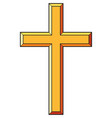 christian cross icons vector image