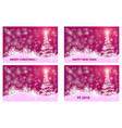 christmas card - set vector image vector image