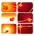 Christmas cards Happy new year cards vector image vector image