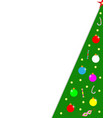 christmas tree card corner frame border vector image