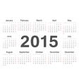 circle calendar 2015 vector image