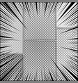 comic page monochrome style background vector image