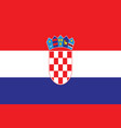 croatian flag - croatia flag vector image
