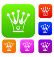 crown set color collection vector image vector image