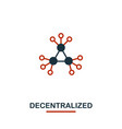 decentralized icon creative two colors design vector image vector image