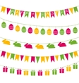 Easter garlands vector image vector image