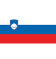 Flag of Slovenia vector image vector image