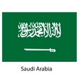 Flag of the country saudi arabia vector image