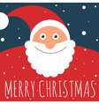 Flat design Santa greeting card vector image
