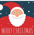 flat design santa greeting card vector image vector image