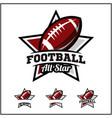 football ball all star badge logo vector image