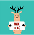 free hugs vector image vector image