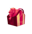 gift box in shape house vector image