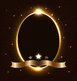 golden sparking oval with a set glowing vector image