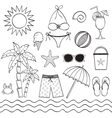 Hand Drawn Beach Set vector image