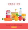 Healthy Food Concept Web Banner vector image vector image