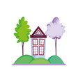house facade trees nature scenery vector image
