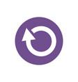 icon arrow refresh in color circle vector image vector image