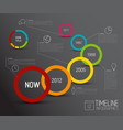 infographic dark timeline report template with vector image vector image