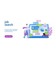 job search template vector image