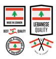 lebanon quality label set for goods vector image