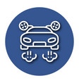 line icon of flying car with shadow eps 10 vector image vector image