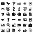 mailing icons set simple style vector image vector image